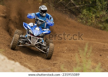 Rider driving in the race - stock photo