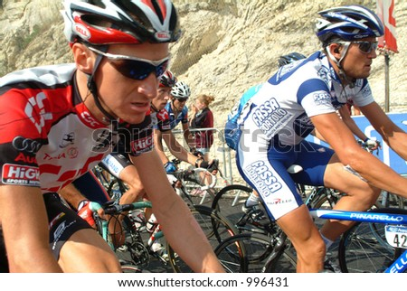 Riders on the Final Climb of the Villard de Lans Stage of the 2004 Tour de France - stock photo