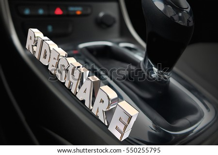 Rideshare Carpool Gear Shift Vehicle Car 3d Illustration