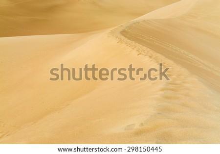 Ridge of Dune at Great Sand Dunes National Park - stock photo