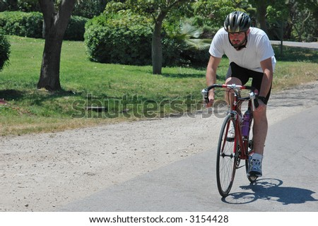 Riding bike in the country - stock photo