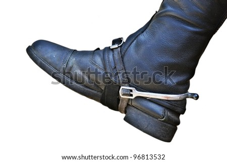riding boot isolated - stock photo