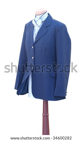 Riding Clothes isolated with clipping path