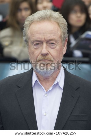 Ridley Scott arriving for the World Premiere of Prometheus, Empire Cinema in Leicester Square. 31/05/2012 Picture by: Simon Burchell / Featureflash