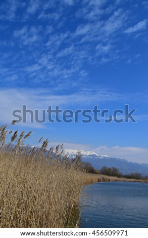 Rieti (Italy) - Natural Reserve of lakes Lungo and Ripasottile, with Terminillo mountain