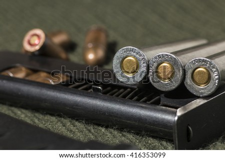Rifle and pistol bullets  - stock photo