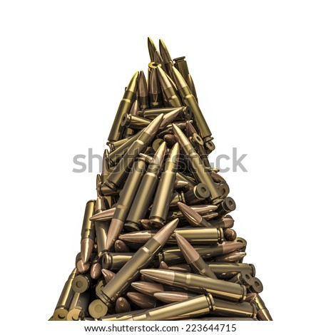 Rifle bullets peak - stock photo