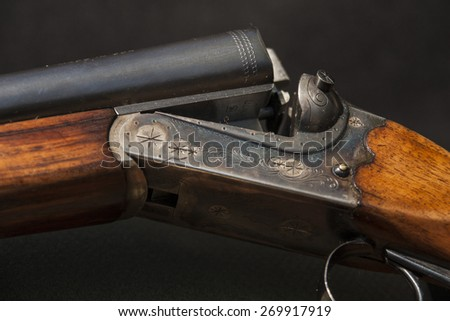 rifle isolated on a black background - stock photo