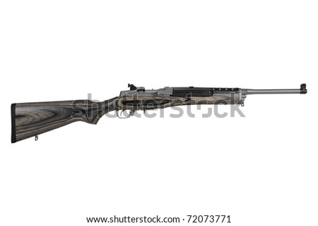 Rifle isolated over white with a clipping path - stock photo