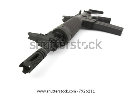Rifle on the white background