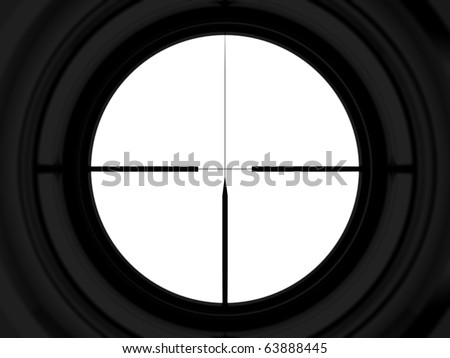 rifle scope - stock photo