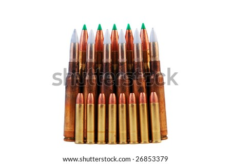 rifleprojectiles - stock photo