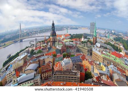 Riga city - stock photo