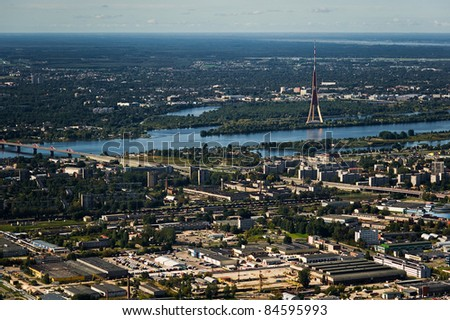 Riga City view from above