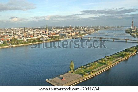 Riga from above (Riga, Latvia, Europe)