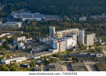 Riga suburb - stock photo