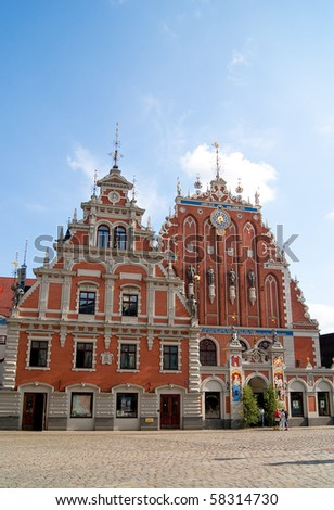 Riga the capital of Latvia, House of the Blackheads, old town