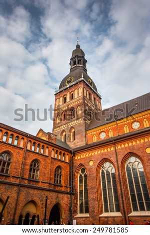 Rigas Doms Cathedral - stock photo