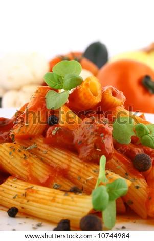 Rigatoni Pasta - stock photo