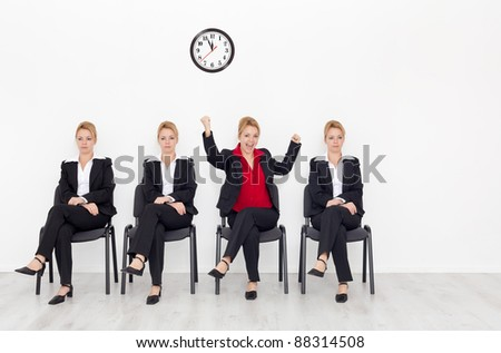 Right attitude - stand out from the crowd concept - stock photo