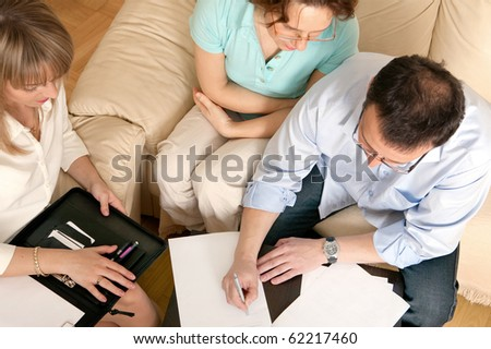 Right before signing contract. - stock photo