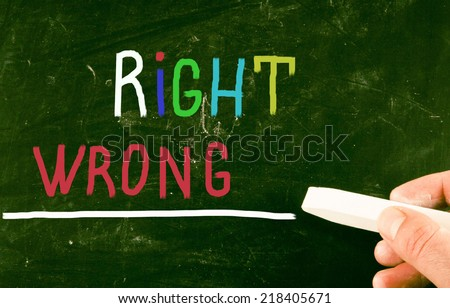 right concept - stock photo