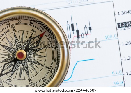 Right direction of your business. Collage - stock photo