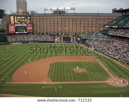 Right Field at Camden Yards - stock photo
