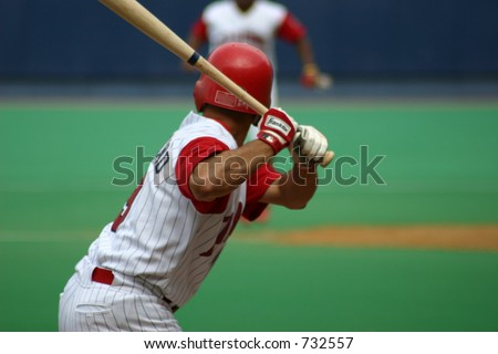 Right-handed Batter - stock photo