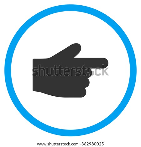 Right Index Finger Icon - stock photo