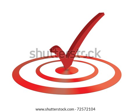 Right on target, targeting check mark concept - stock photo