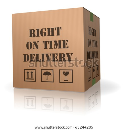 right on time delivery shipment cardboard box logistic package sending - stock photo