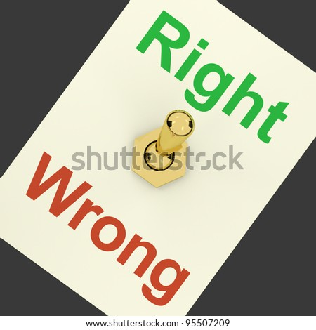 Right Switch On Showing Correct Or True Answers - stock photo