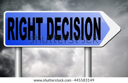 right way choice decision or direction for answers on questions choose wise - stock photo