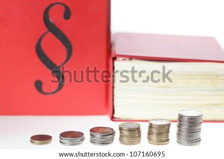 rights and money - stock photo
