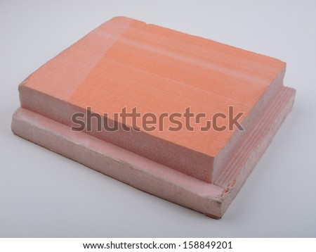 Rigid polystyrene panel for wall and roof insulation - stock photo