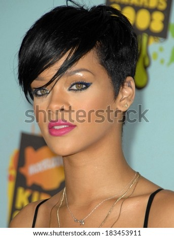 Rihanna at Nickelodeon's 21st Annual Kids' Ch oice Awards - ARRIVALS, UCLA's Pauley Pavilion, Los Angeles , CA, March 29, 2008  - stock photo