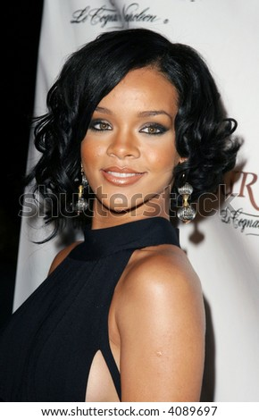 Rihanna pictured at the House of Courvoisier BET Awards After Party in Hollywood, California, June 26, 2007. - stock photo