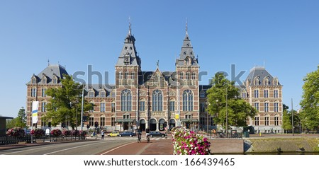 Rijksmuseum in Amsterdam, The Netherlands,  - stock photo