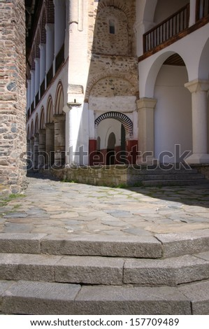 Rila Monastery in Bulgaria  - stock photo