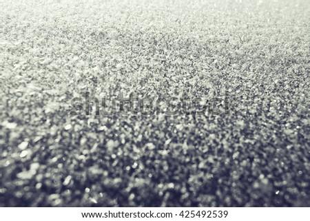 rime snow texture - stock photo