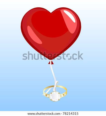 ring and ballon - stock photo