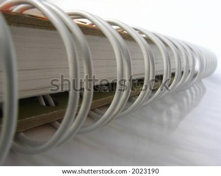 ring binder - white notebook - stock photo