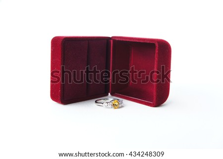 Ring box - stock photo