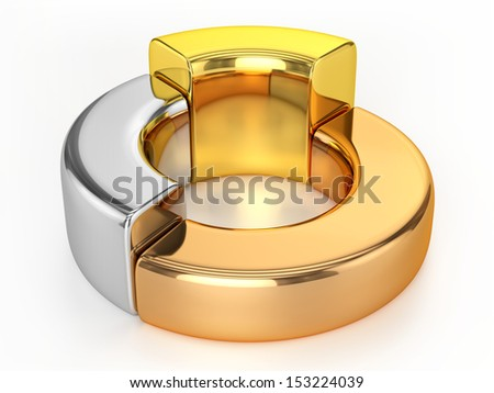 Ring Chart (Gold, Silver, Bronze) - stock photo