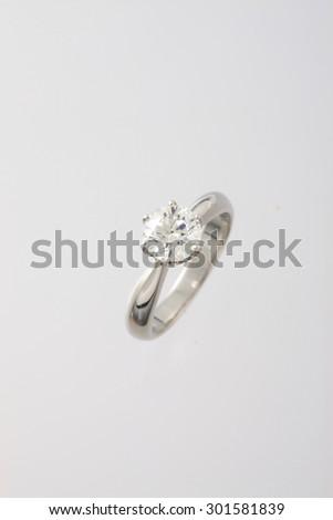Ring, diamond - stock photo