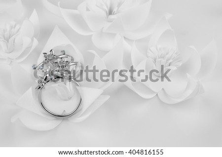 Ring  diamond isolated on white background