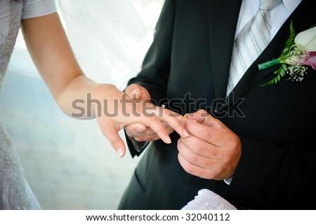 Ring exchange - stock photo