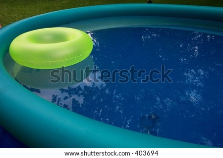 ring floating in a pool