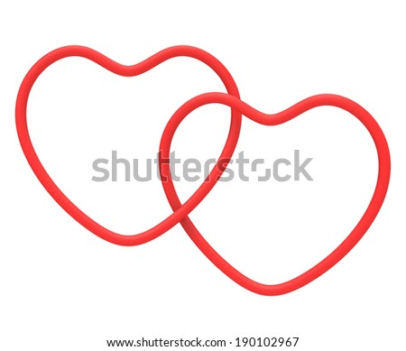 Ring Hearts Meaning Marriage Proposal Romanticism Stock Illustration